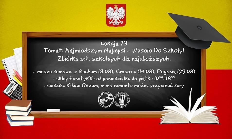 Ostatnie dni na wzięcie udziału w kibicowskiej akcji zbierania artykułów szkolnych