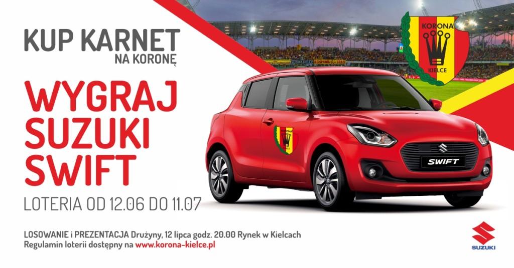 Kup karnet, wygraj Suzuki! Nowa akcja promocyjna Korony Kielce dla kibiców