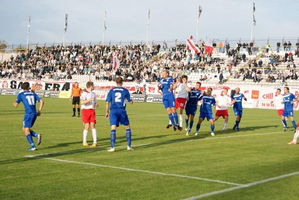 Zdjęcie ze zwycięskiego meczu Floty przeciwko ŁKS-owi/Fot. ŁKS Łódź