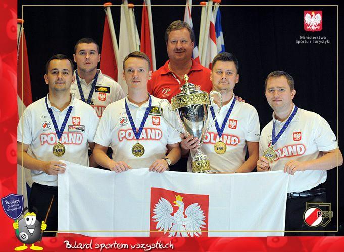 Kielczanie wśród najlepszych bilardzistów Europy! Polacy zdobyli w Holandii złoty medal