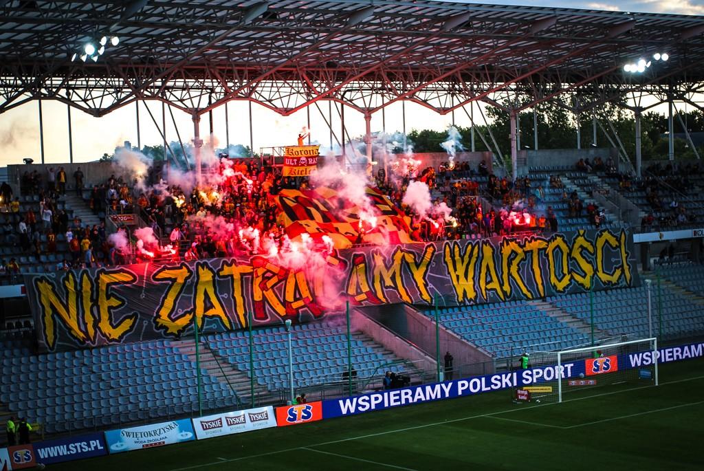 Policja: zatrzymania po meczu Korony Kielce z Zagłębiem Lubin