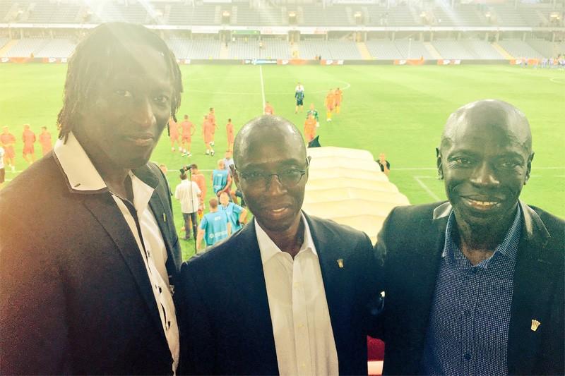 Senegalczycy na Kolporter Arenie. Wśród nich były, słynny napastnik Marsylii i PSG