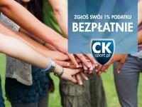 Zgłoś swój 1% podatku BEZPŁATNIE! Akcja specjalna CKsport.pl