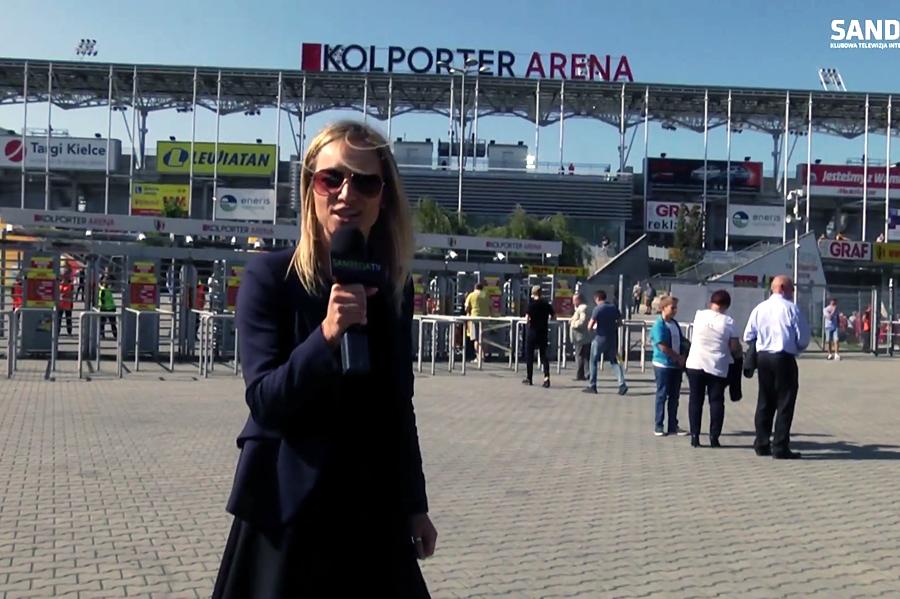 Kulisy meczu Korona - Sandecja. Ujęcia z drona i reporterka w akcji (video)