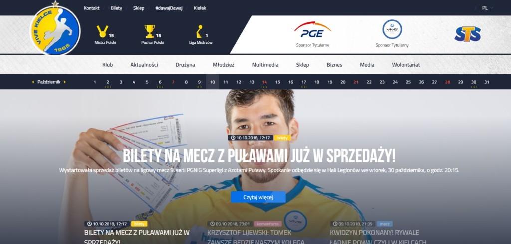 PGE VIVE zmieniło wygląd strony i sklepu internetowego. Klub czeka na opinie kibiców