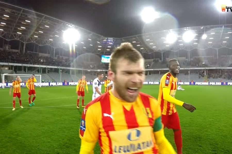 Szał radości piłkarzy Korony po zwycięstwie nad Wisłą Kraków w Pucharze Polski (video)